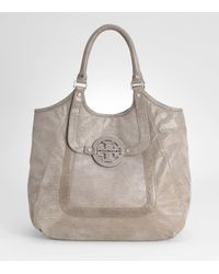 Tory Burch | Metallic Printed Lizard Amanda Shopper | Lyst
