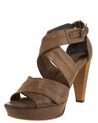 Alberto Fermani - Brown Crisscross Platform Sandal - Lyst