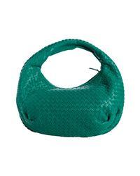 Bottega Veneta | Green Lagoon Basketwoven Leather Belly Veneta Hobo | Lyst
