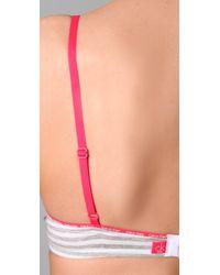 Calvin Klein - Gray Underwear Ck One Cotton Push-up Bra - Lyst