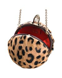 Christian Louboutin | Multicolor Leopard Printed Pony Hair Eden Clutch | Lyst