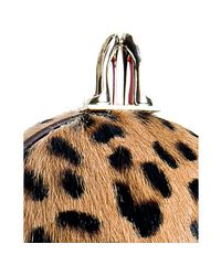 Christian Louboutin - Multicolor Leopard Printed Pony Hair Eden Clutch - Lyst