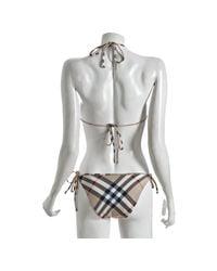 Burberry Brit | Natural Check-print Bikini Bottom | Lyst