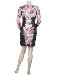 Jonathan Saunders | Multicolor Floral Totem Bodycon Dress | Lyst