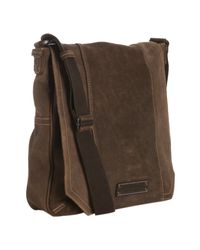 Marc New York | Brown Retro Suede North-south Messenger Bag for Men | Lyst