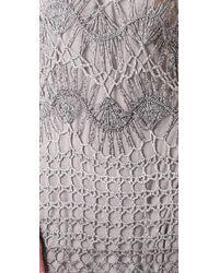 Georgie - Gray Darla Crochet Dress - Lyst