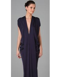 Zero + Maria Cornejo - Blue Eve Long Foil Dress - Lyst