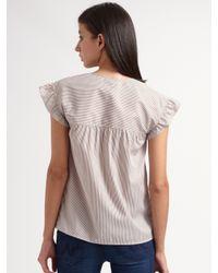 A.P.C. | Purple Ruffle Shoulder Shirt | Lyst