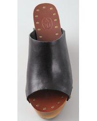 Ash - Black Venus Wedge Slide Sandals - Lyst