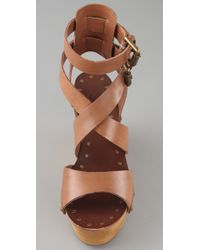 Ash | Natural Vicky Crisscross Clog Sandals | Lyst