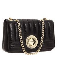 kate spade new york - Black Gold Coast Shimmer Robin Shoulder Handbag - Lyst