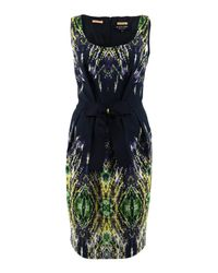 Paul Smith Black Label | Blue Navy Feather Print Dress | Lyst