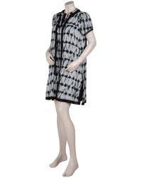 Proenza Schouler | Black Cotton Tie and Dye Dress | Lyst
