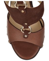Jimmy Choo - Brown Ursula Leather and Suede Sandals - Lyst