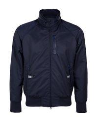 Y-3 | Blue Barracuda Zip Front Jacket for Men | Lyst