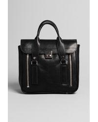 3.1 Phillip Lim | Black K.c. Zipper Leather Top Handle Bag | Lyst