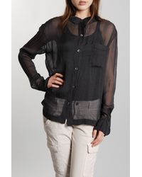 Giada Forte | Black Silk Top | Lyst