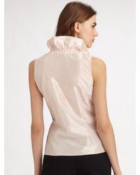 Lafayette 148 New York | Pink Clarissa Silk Taffeta Blouse | Lyst