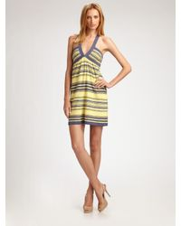M Missoni | Yellow Striped Knit Sundress | Lyst