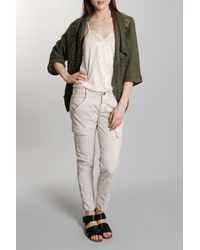 Bliss and Mischief | Green Morro Linen Slub Cardigan in Army | Lyst