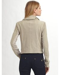 VEDA - Gray Max Leather Jacket in Smoke - Lyst