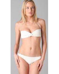 Cali Dreaming   White The Twist Front Bandeau Classic Bikini   Lyst