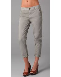 Current/Elliott | Gray The Smart Trousers | Lyst