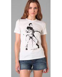 Dolce & Gabbana | White Elvis Silhouette Tee | Lyst
