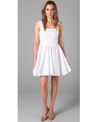 Dolce & Gabbana | White Square Neck Dress with Open Back | Lyst