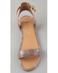 Elie Tahari | Natural Hazel 1 Band Flat Sandals | Lyst