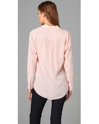 Equipment - Pink Signature Blouse - Lyst