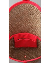Marc By Marc Jacobs | Red Preppy Straw Canteen Messenger Bag | Lyst