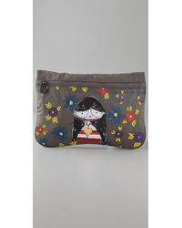 Marc By Marc Jacobs - Gray Miss Marc Packables Zip Pouch - Lyst