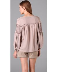 Parker | Pink Peasant Top | Lyst