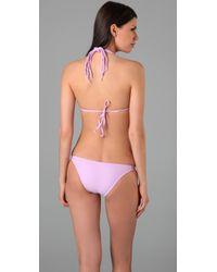 Salt Swimwear | Purple Lola Bikini Top | Lyst