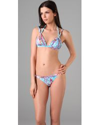 Seventh Wonderland | Blue Rever Triangle Bikini | Lyst