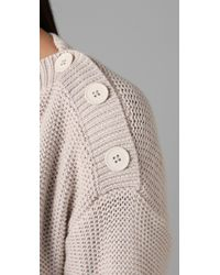 T By Alexander Wang - White Boatneck Sweater - Lyst