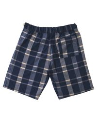 A.P.C. | Blue Navy Check Shorts for Men | Lyst