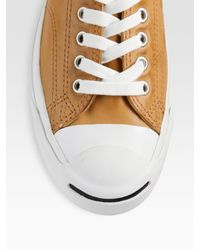 Converse - Brown Jack Purcell Leather Oxfords for Men - Lyst