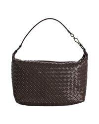 Bottega Veneta - Dark Brown Woven Leather Small Shoulder Bag - Lyst