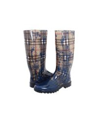 Burberry | Natural Haymarket Splash Rain Boot | Lyst
