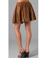 Dallin Chase | Brown Flynn Leather Skirt | Lyst