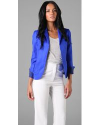 Rachel Roy | Blue Pocket Jacket | Lyst