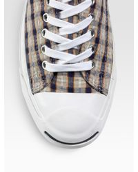 Converse - Blue Jack Purcell Seersucker Oxfords for Men - Lyst