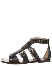 Marc Jacobs | Brown Zip Flat Gladiator Sandal | Lyst