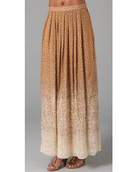Tibi - Brown Constellation Print Long Skirt - Lyst