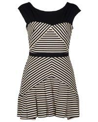 Elizabeth and James | Black Vanessa Sleeveless Stripe Dress | Lyst