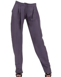 Michael van der Ham | Gray Silk Crepe Trousers | Lyst