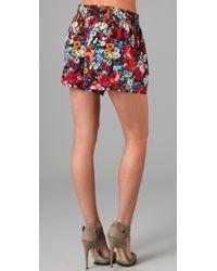 Alice + Olivia | Multicolor Smocked Waist Play Shorts | Lyst