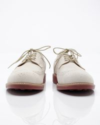 G.H. Bass & Co. | White Suede Wingtip for Men | Lyst